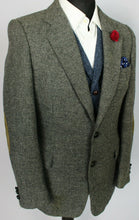 Load image into Gallery viewer, Tweed Blazer Jacket Grey 38R SUPERB QUALITY 3761