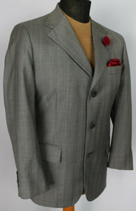 Hand Tailored Tom James Grey Suit 38S W30 X L28 WONDERFUL QUALITY SUIT 3750