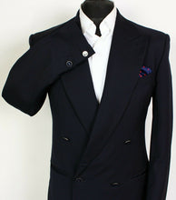 Load image into Gallery viewer, Missoni Blazer Jacket Navy Blue Double Breasted Wool 38R SUPERB QUALITY 3946