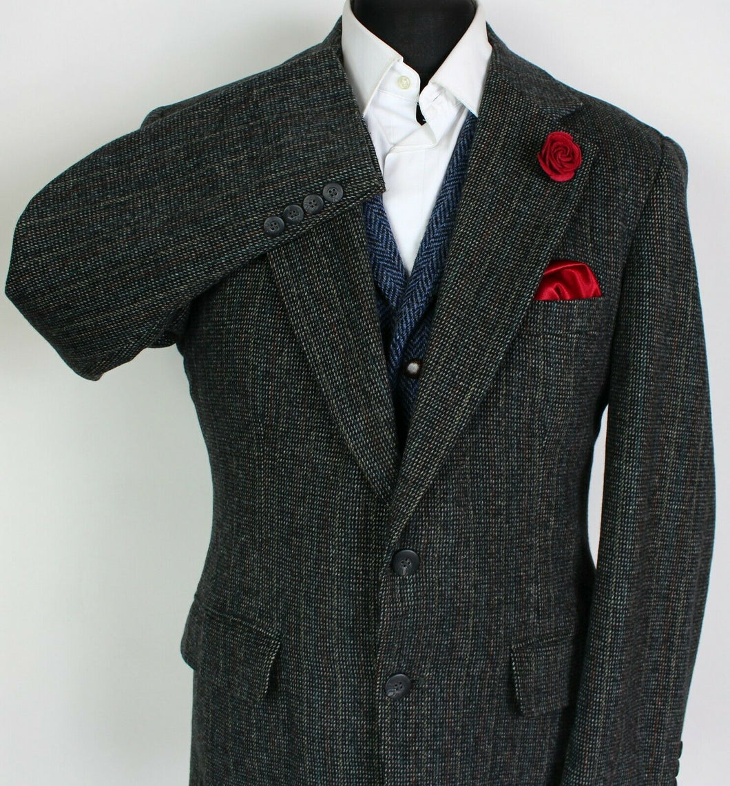 Tweed Blazer Jacket Grey 40S FANTASTIC COLOURS 3945