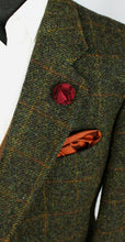 Load image into Gallery viewer, Harris Tweed Blazer Jacket Green 46XS AMAZING VIBRANT COLOURS 3389