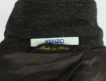 Load image into Gallery viewer, KENZO Coat Jacket Grey Lightweight Wool 40R WONDERFUL GARMENT 3028