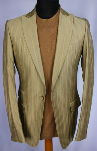 Cavalli Jacquard Gold Blazer Jacket 36R WONDERFUL RARE GARMENT 3019