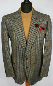 Valentino Tweed Jacket Blazer Windowpane Wool 40R FANTASTIC GARMENT 2305