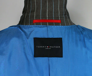 Grey Lightweight Blazer Tommy Hilfiger Pinstripe 40R SUPERB QUALITY 3000