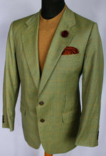Load image into Gallery viewer, Burberry Blazer Jacket Green Brown Lightweight Wool 40R AMAZING QUALITY 3063