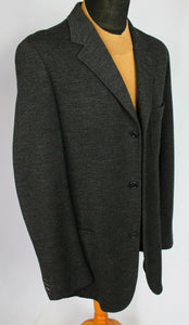 KENZO Coat Jacket Grey Lightweight Wool 40R WONDERFUL GARMENT 3028