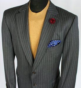 Grey Lightweight Blazer Tommy Hilfiger Pinstripe 46L SUPERB QUALITY 3003