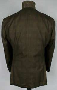 Burberry London Blazer Jacket Brown Check 44S AMAZING QUALITY 3575