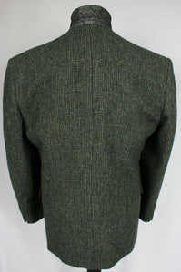 Harris Tweed Jacket Blazer Green Blue Wedding 44R AMAZING QUALITY 2519