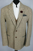 Load image into Gallery viewer, Tweed Blazer Jacket Italian Made 44R SUPERB RARE COLOURS 3511