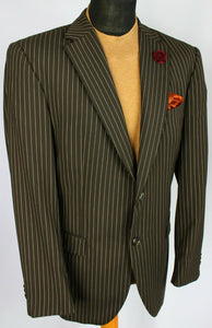Brown Lightweight Blazer Tommy Hilfiger Pinstripe 42R SUPERB QUALITY 3002