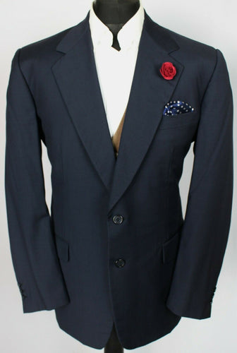 Burberry Blazer Jacket Blue Lightweight Designer 44R EXCLUSIVE COMMISSION 3723