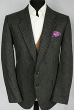 Load image into Gallery viewer, Grey Blazer Jacket Yves Saint Laurent Pinstripe Designer 42R SUPERB 2730