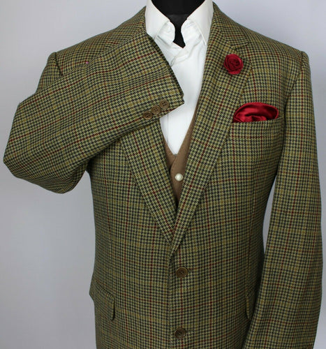 Burberry Tweed Blazer Jacket Brown Green 44R SUPERB QUALITY 3724