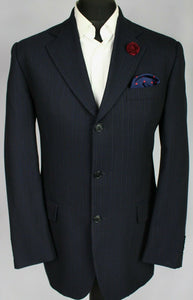 FERRE Blazer Jacket Blue Lightweight 40L WONDERFUL GARMENT 3211