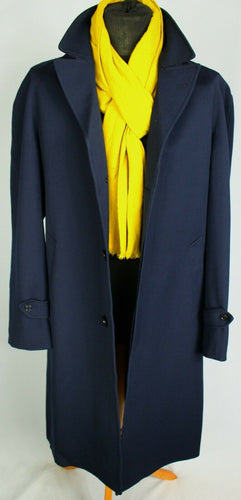 Blue Coat Overcoat Italian Made 42R EXCEPTIONAL GARMENT 3692