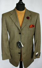 Load image into Gallery viewer, Summer Pierre Cardin Blazer Jacket Brown Blue Wedding 38R EXCEPTIONAL #2169
