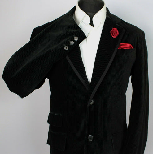 Black Velvet Jacket Blazer GUESS 44L CONTEMPORARY FIT 3749