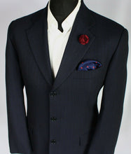 Load image into Gallery viewer, FERRE Blazer Jacket Blue Lightweight 40L WONDERFUL GARMENT 3211