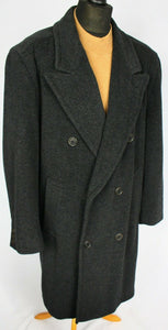 Hugo Boss Coat Grey Designer 100% Wool 48R EXCEPTIONAL GARMENT 2589