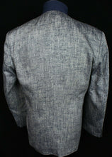 Load image into Gallery viewer, Ferre Silk Jacket Blue White 44R