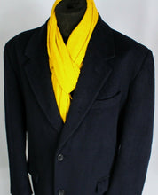 Load image into Gallery viewer, Blue Crombie Coat Overcoat Italian Made 46R EXCEPTIONAL GARMENT 3691