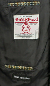 Harris Tweed Blazer Jacket Brown 46R SUPERB VIBRANT COLOURS 3448