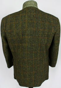 Harris Tweed Blazer Jacket Green 46XS AMAZING VIBRANT COLOURS 3389