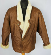 Load image into Gallery viewer, Shearling Jacket Coat Sheepskin Nappa Leather Brown 44 Large DL092