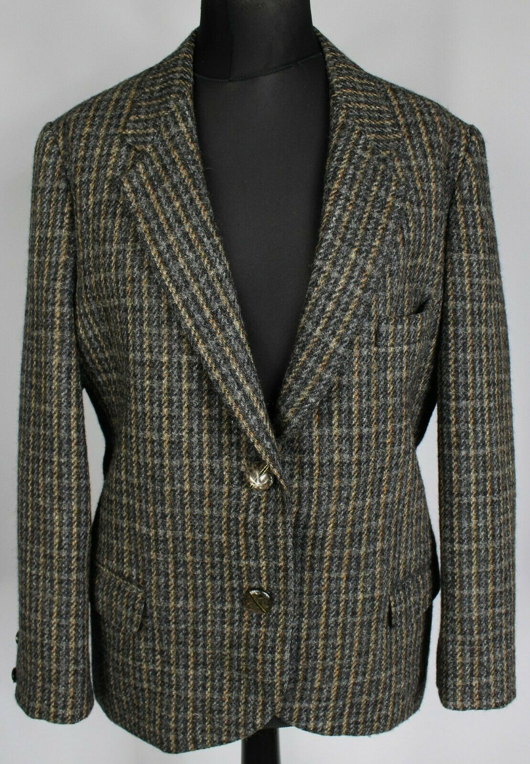 Harris Tweed Jacket Country Check MacKenzie UK 16 EU 44 BEAUTIFUL JACKET 3674