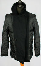 Load image into Gallery viewer, Pea Coat Reefer Jacket Black 38R EXCEPTIONAL GARMENT 3496