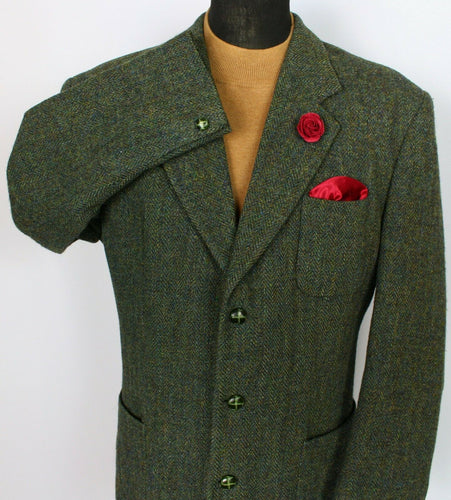 Harris Tweed Jacket Blazer Green 44R SUPERB COLOURS 3781