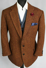Load image into Gallery viewer, Harris Tweed Blazer Jacket Brown Wedding 44S AMAZING COLOURS 3662