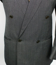 Load image into Gallery viewer, Grey Blazer Jacket Tombolini Double Breasted 40S WOOL & SILK