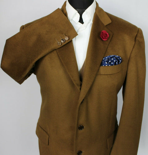 Piacenza Cashmere Blazer Jacket Brown 44R SUPERB QUALITY 3722