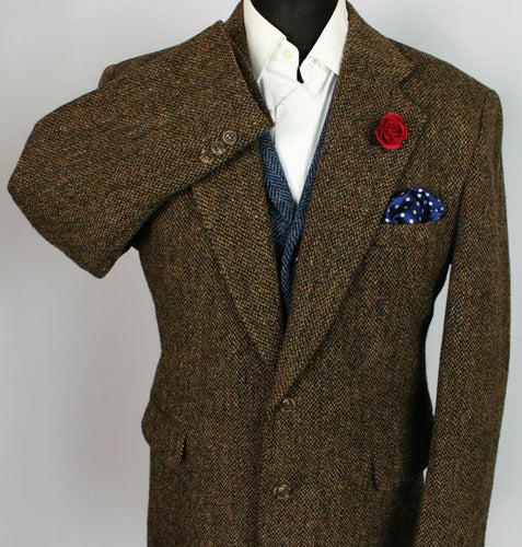 Harris Tweed Jacket Blazer Brown 44R SUPERB COLOURS 3802