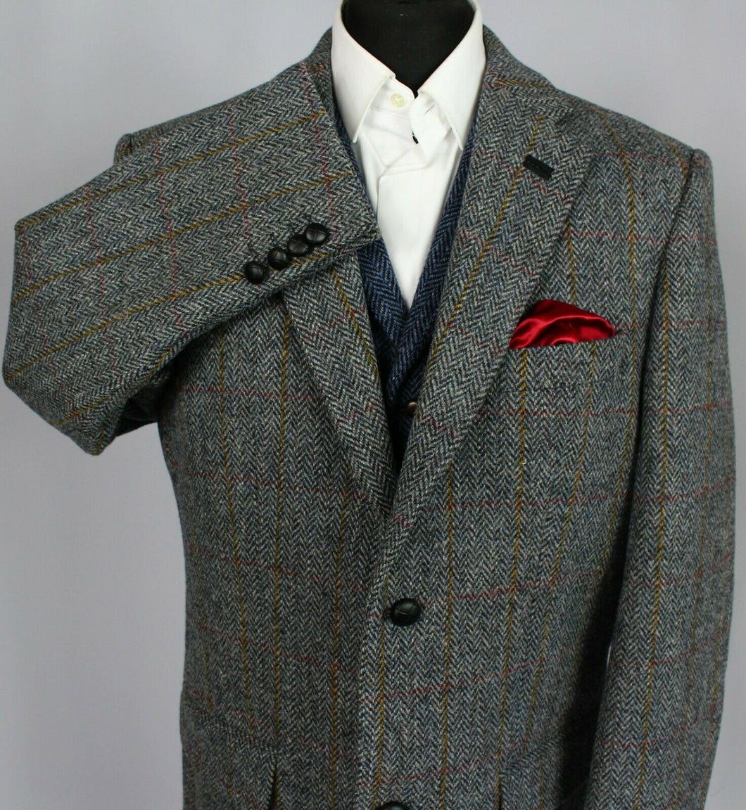 Harris Tweed Blazer Jacket Grey 48L WALBUSCH COLLECTORS TWEED 3390