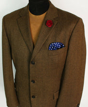 Load image into Gallery viewer, Tweed Blazer Jacket Brown Hugo Boss 44R SUPERB QUALITY 3831