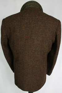 Harris Tweed Blazer Jacket Brown 46R SUPERB VIBRANT COLOURS 3660