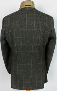 Tweed Jacket Blazer Grey Tommy Hilfiger 40R WOOL & CASHMERE 3776