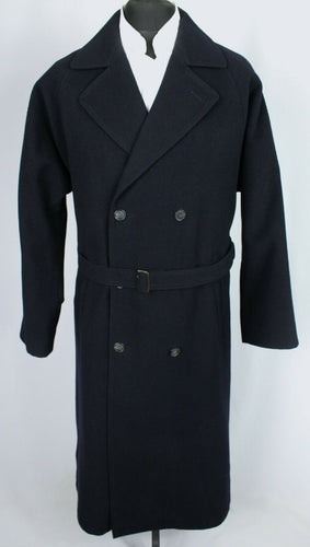 Double Breasted Coat Blue Daniel Hechter 100% Wool 42R EXCEPTIONAL GARMENT 3454