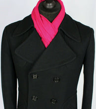 Load image into Gallery viewer, Pea Coat Reefer Jacket Black 36R EXCEPTIONAL GARMENT 3494