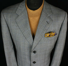 Load image into Gallery viewer, Burberry London Blazer Jacket Grey Designer 42R 100% WOOL 2908