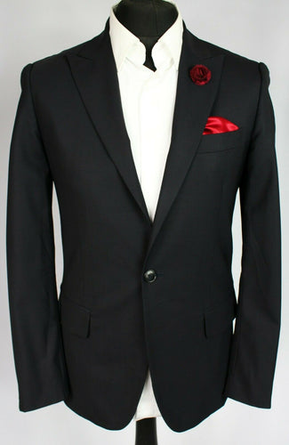 John Richmond Blazer Jacket Black 36R FANTASTIC GARMENT 3027