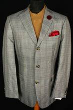 Load image into Gallery viewer, Hugo Boss Blazer Jacket Grey Glen Check 42R COTTON LINEN & SILK 2988