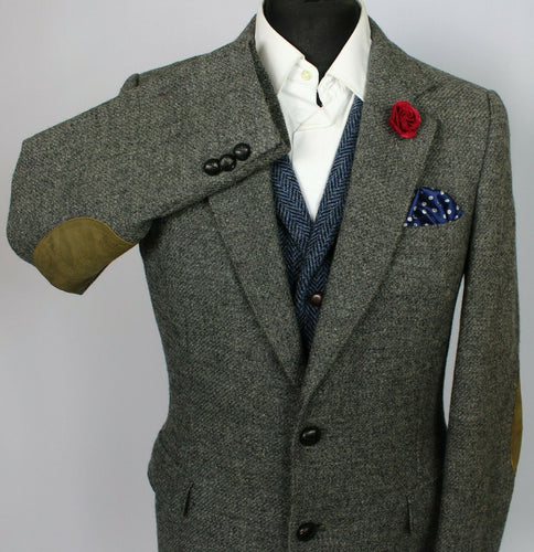 Tweed Blazer Jacket Grey 38R SUPERB QUALITY 3761