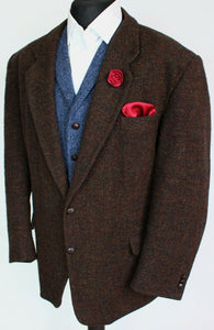 Harris Tweed Blazer Jacket Brown 48S SUPERB COLOUR 3878