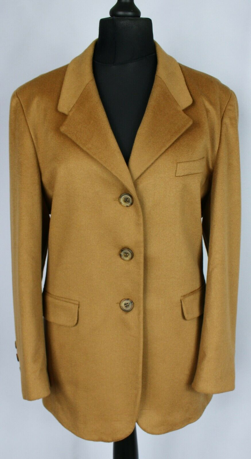 Cashmere Jacket Camel Brown UK 16/EU 44 EXCEPTIONAL QUALITY 3479