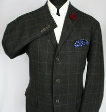 Load image into Gallery viewer, Ralph Lauren Polo Blazer Grey Windowpane 44R WOOL & CASHMERE 3170